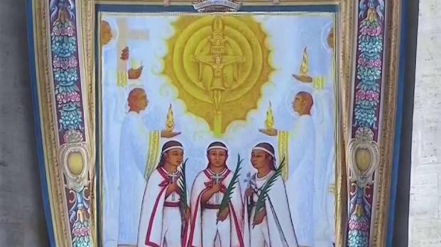 El papa canoniza a los niños Mártires de Tlaxcala