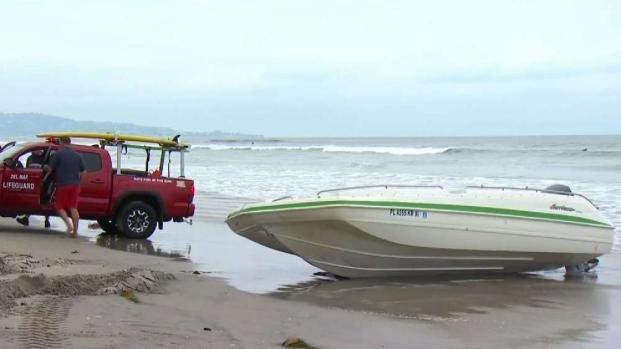 [TLMD - SD] Encuentran lancha abandonada en Del Mar