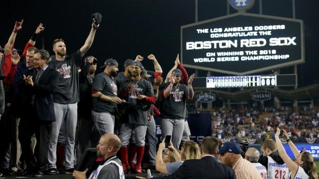 Red Sox celebran en grande su campeonato