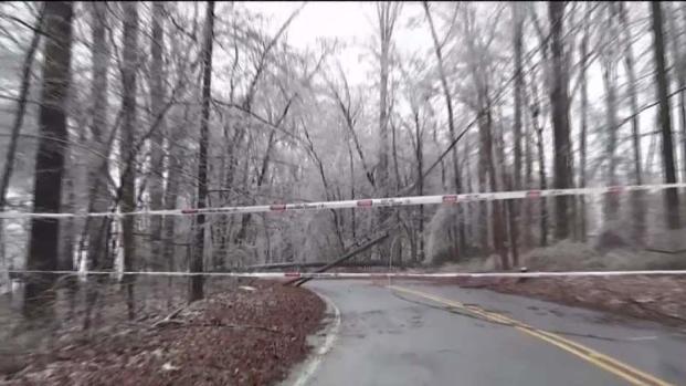 Hielo provoca peligro en Condado Montgomery