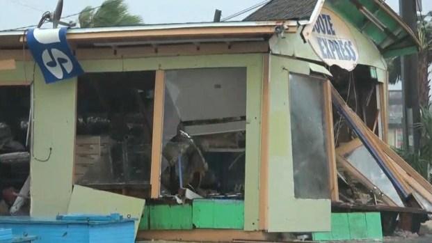 Postes caídos y paredes derrumbadas, así quedaron áreas de Panama City tras Michael