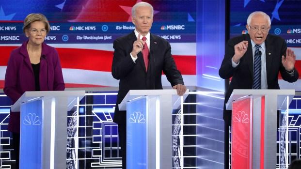 Precandidatos demócratas se enfrentan en debate