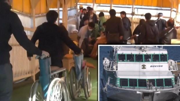 Animal marino choca con un ferry en Japón y le deja pequeño hoyo en popa
