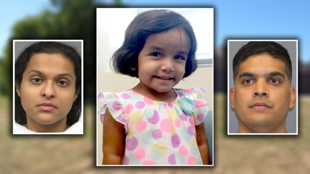 Caso Sherin Mathews: imponen cargos a padres de la pequeña