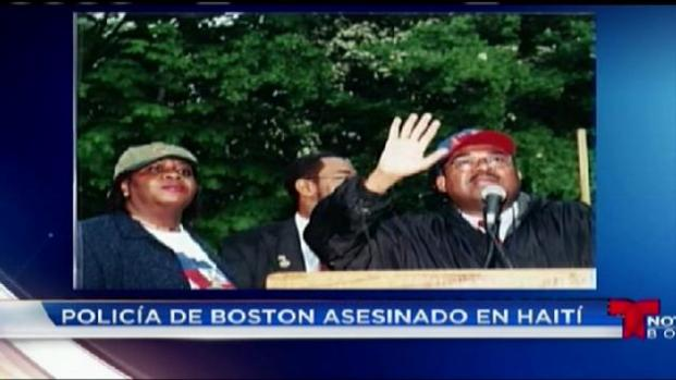 Policía de boston asesinado en Haití
