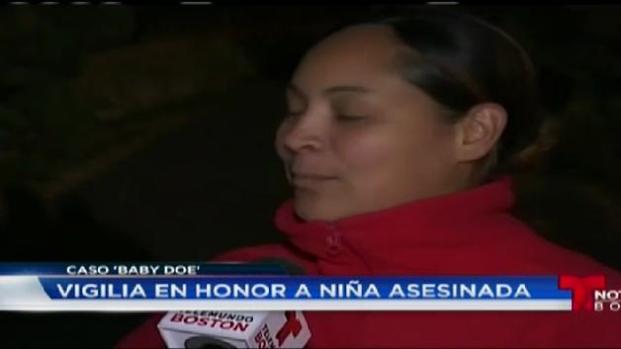 Vigilia en honor a niña asesinada.
