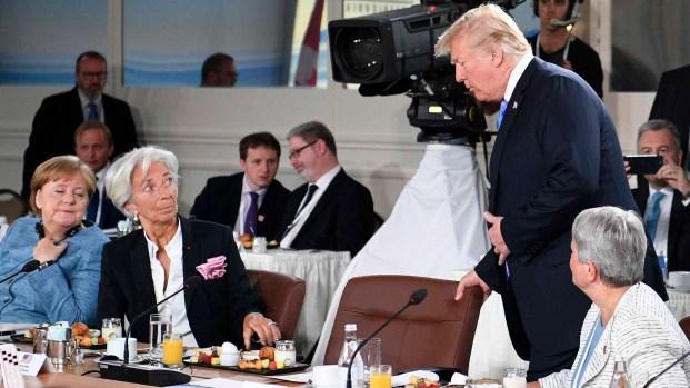 [TLMD - MIA] Trump llega tarde y líderes mundiales lo miran de reojo