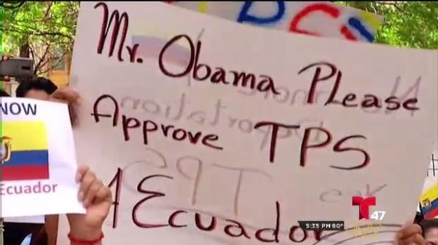 [TLMD - NY] Ecuatorianos exigen aprobación del TPS
