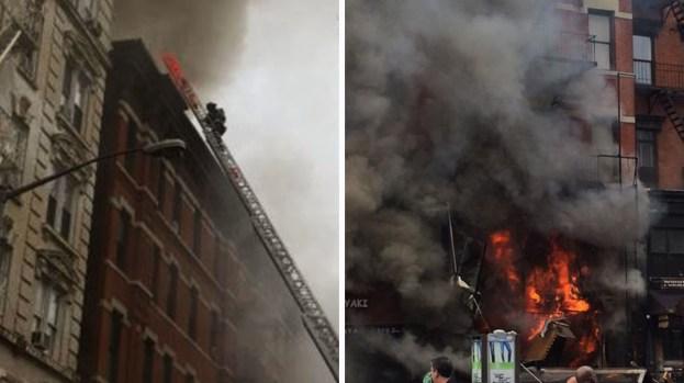Fotos: Edificio hecho cenizas por explosión en NY