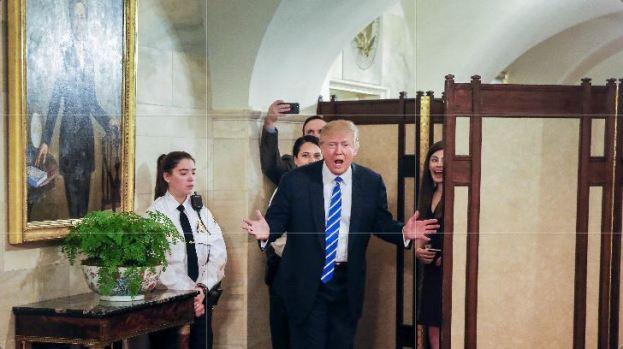 [TLMD - NATL] Trump da sorpresa en la Casa Blanca...y mira quién se coló