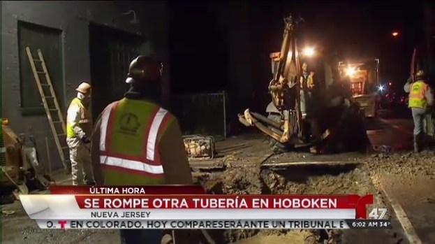 [TLMD - NY] Se rompe otra tubería en Hoboken