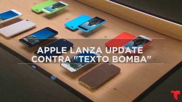 """[TLMD - MIA] Apple urge actualizar contra """"texto bomba"""" que daña tu iPhone"""