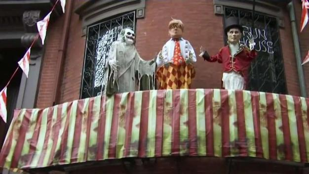 Decoración de Halloween con Trump causa controversia