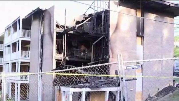Familias desplazadas tras voraz incendio en Landover Hills