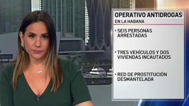 Operativo antidrogas desmantela red de prostitución en Cuba