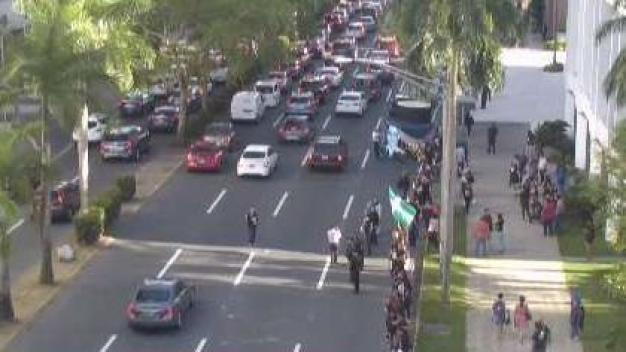 Protesta contra la JSF en Hato Rey