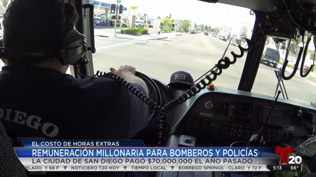 SD paga millones por horas extra de bomberos y policías