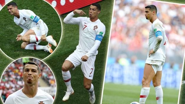 El show de Ronaldo: salta, luce muslos, se queja, se jacta y goza su gol