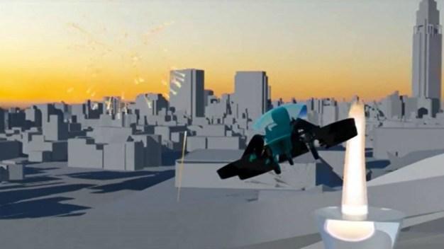 SkyDrive, el auto volador para encender la llama olímpica