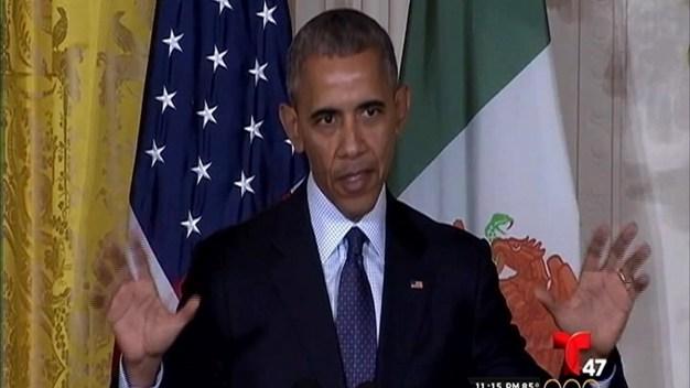 Barack Obama se reúne con el presidente de México