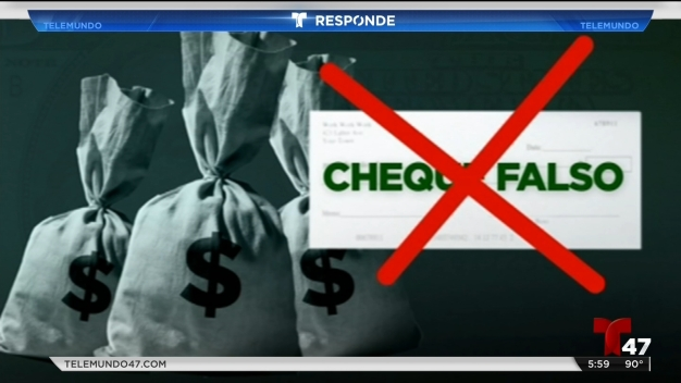 Estafa de cheques falsos