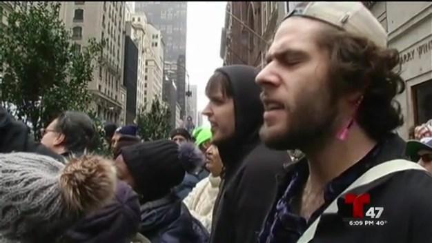 Desobediencia civil contra Donald Trump en NY
