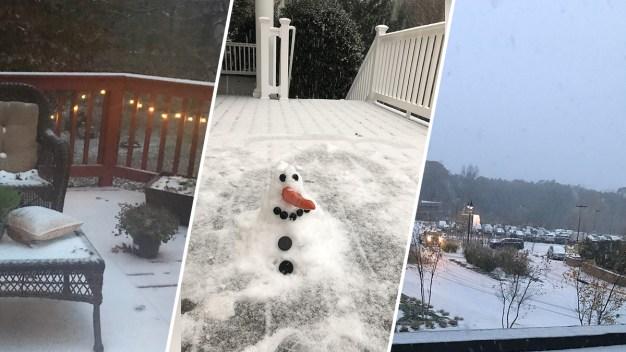 Residentes del DMV comparten fotos de la primera nevada de la temporada