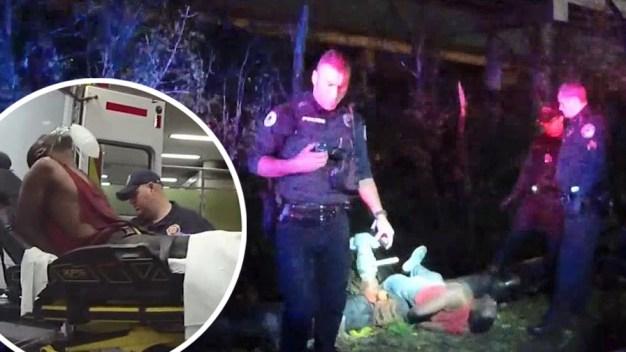 Cae 40 pies, se pelea con perro, y es arrestado