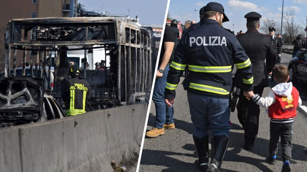 Dramático: secuestran bus escolar y lo prenden fuego