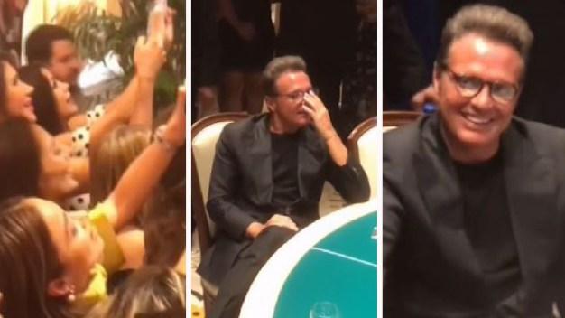 Luis Miguel causa caos en hotel y es acorralado por fans