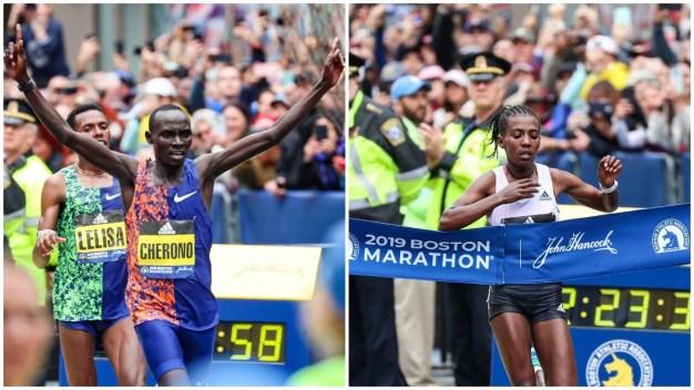 Cherono, Degefa ganan el Maratón de Boston 2019