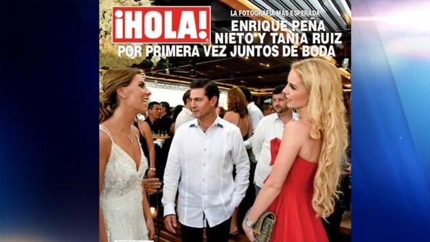 Peña Nieto aparece en público con su nueva novia