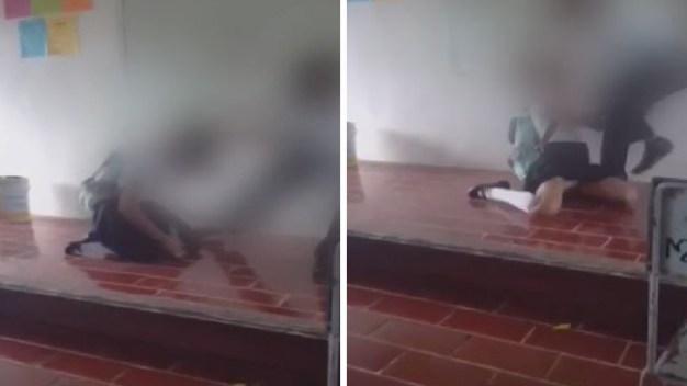 Viral: un joven ataca a compañera en salón de clases