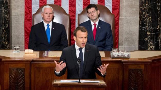 Macron marca diferencias con Trump y lo aplauden
