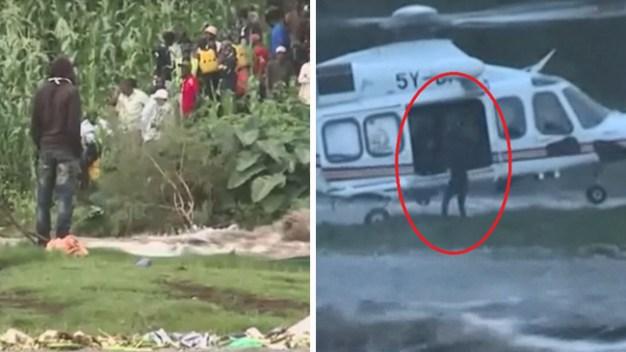 De película: rescatan a pescador en helicóptero tras días rodeado por mortales inundaciones