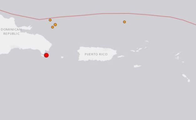 Fuerte temblor al sureste de República Dominicana
