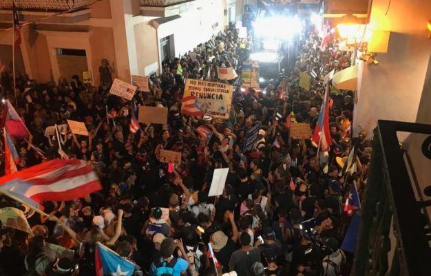 Protestas cobran fuerza en Puerto Rico