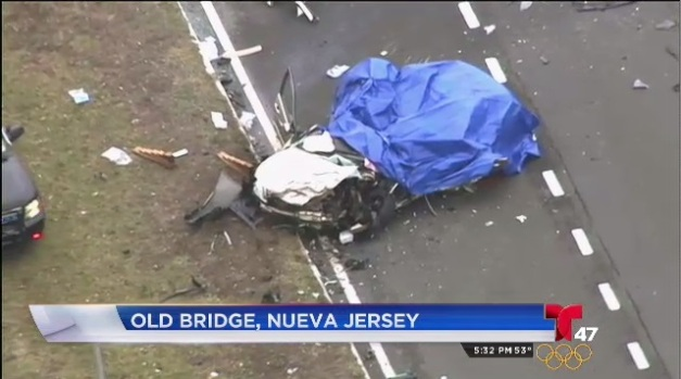 [TLMD - NY] Video: Cierran autopista de NJ tras aparatoso accidente