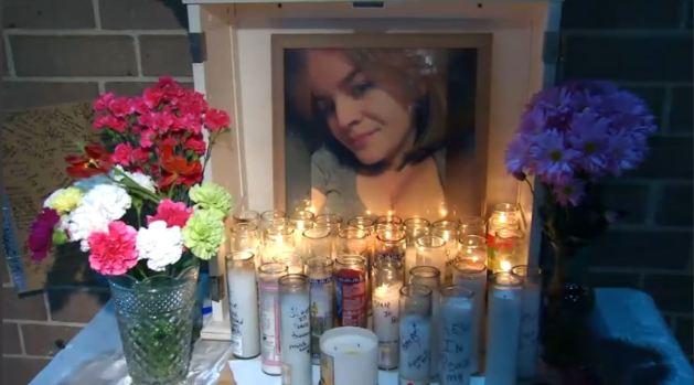 Vigilia en memoria de joven madre