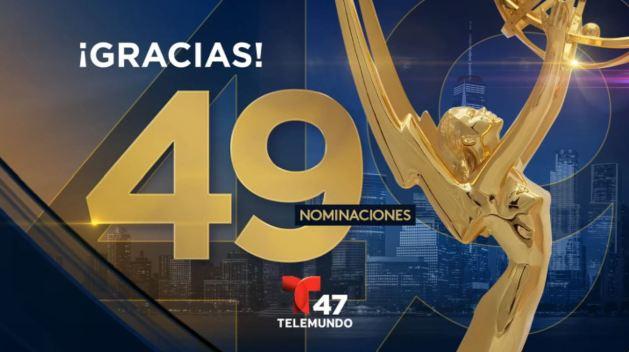 Telemundo 47 logra 49 nominaciones a premios Emmy