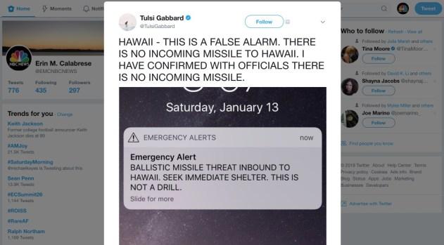 Pánico en las calles de Hawái por falsa alerta de misiles