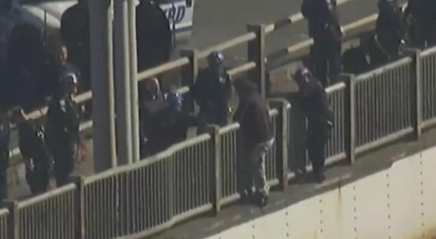 Rescate de película en puente George Washington