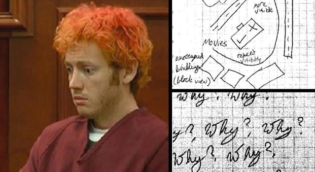 La mente de un asesino: el cuaderno de James Holmes