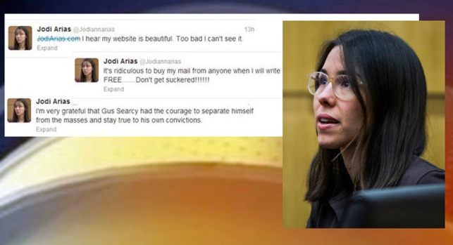 Jodi Arias y sus extraños mensajes en Twitter