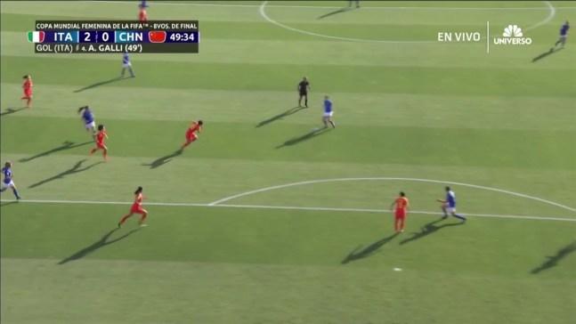 ¡Metrallazo de Galli!, Italia anota el segundo contra China