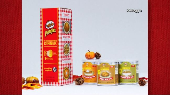 Lanzan Pringles con sabor a cena de Acción de Gracias