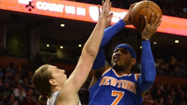 Carmelo Anthony mantiene a los Knicks victoriosos