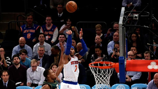 Anthony logra doble-doble en el triunfo de los Knicks