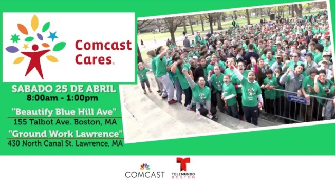 Comcast Cares Day, día de acción comunitaria en Boston y Lawrence