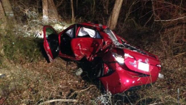 Conductor se estrella contra árbol en I-95